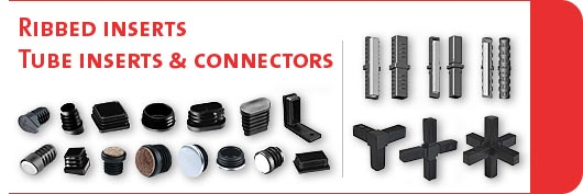 Ribbed inserts & tube connectors